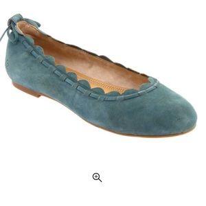 JACK ROGERS Lucie Ballet Flat Blue Suede